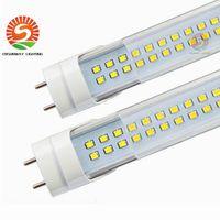 Wholesale Led Lamps G13 - FEDEX SHIP LED T8 Tube 4FT 28W 2835 G13 FA8 R17D 192LEDS Light Lamp Bulb 4 feet 120CM Double row led lighting fluorescent