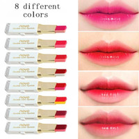 Wholesale Novo Pc - HOT sale 8 different colors 3.8g NOVO lipstick Double color lipstick 100 pcs lot DHL free