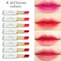 rouges à lèvres 3.8g achat en gros de-Vente chaude 8 couleurs différentes 3.8g NOVO rouge à lèvres Double rouge à lèvres 100 pcs / lot DHL gratuit