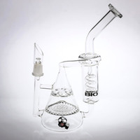 Wholesale Two Function Honeycomb Glass Percolator - Latest Design Pyramid Glass Bong Two Function Honeycomb&Tornado Percolator Spring Pipes Recycler Bubbler Oil Rigs Water Pipes Smoking Bongs