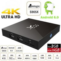 Quad core pcs Pas Cher-2 Go 16 Go X96 Android 6,0 ​​TV Box Amlogic S905X Quad Core Marshmallow Smart Mini PC 1G 8G H.265 WIFI 4K * 2K UHD HDMI USB Bluetooth Media Player