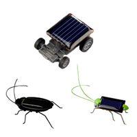 Wholesale Power Toys For Kids - Wholesale- 1pc Mini Kit Novelty Kid Solar Energy Powered Car Cockroach Power Robot Bug Grasshopper Educational Gadget Toy For Children