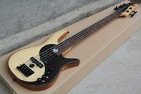 Wholesale One Piece Body Bass - Wholesale- one-piece set neck through alder body butterfly logo Fodera standard 5 Strings electric bass guitar with 9V Active Pickups