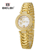 Wholesale Watch Bands China - BELBI Luxury Women's Wristwatches China Style Dial Design for Ladies Watches Waterproof Quartz with AAA Alloy Band Watch Brand