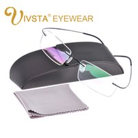 Wholesale Titanium Eyewear Wholesales - Wholesale- with Original Case Titanium Glasses Men Brand logo Rimless eyewear Women Optical Frame Prescription e1050 Silhouett Shile