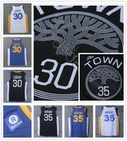 Wholesale New Style Men S Shirt - Latest Basketball 30 Stephen Curry Jersey 2017 2018 New Style Black Blue White 35 Kevin Durant Jerseys 100% Stitched Shirt High Quality
