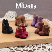 Wholesale Blythe Doll Shoes - High quality Handmade Short motorcycle boots Doll shoes,doll accessories for Blythe Azone Lati licca gift toys