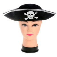 Wholesale Pirate Captain Hat Skull Crossbone Fancy Dress Pirates Of The Caribbean Party