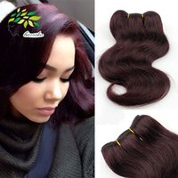 Coiffures 99j Pas Cher-Fashion Short Bob Hairstyles For Black Woman brésilien Cheveux Body Wave 99j # Burgundy Weave Body Wave Grade 7a Unprocessed Human Hair