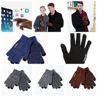 Wholesale Thick Winter Knit Gloves - Touch Screen Winter Gloves For Man And Women Plus Thick Knitted Magic Touch Screen Gloves Winter Warmer Knit KKA3271