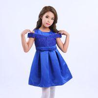Wholesale Trendy Short Skirts - Solid Color Kids Dress Wholesale Trendy Bow Tie Belt Children's Skirt Summer Fashion Cloth Top Quality