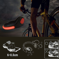 Wholesale Product Neon - Novel products Night Running LED shoe clips for bike cycling sport shoes safety signal Neon run LED Shoes