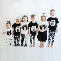 Wholesale Cartoon Babies Numbers - Baby Boys girls INS I'M number T-shirts Children ins cotton Cartoon Short sleeve T-shirts kids clothes 1-6 years B001