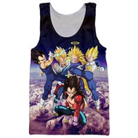 Wholesale Super Hipster Men - Wholesale- Newest Anime Dragon Ball Z Super Saiyan Tank Tops Goku Vegeta Majin Buu Brolly Prints t shirt Men Women Hipster 3D Tank Top Vest