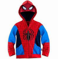 Wholesale Kids Sports Clothes Wholesale - 2017 Spring Children Hoodies Cartoon Cosplay Zipper Terry Long Sleeve Sport Sweatshirts Kids Coats Clothes 3-8T SKW-064