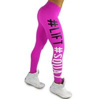 Wholesale Stretch Leggins - Sexy Skinny Legging Women Sportswear Lift Squat Print Fitness Pants Push Up Hips Women's Leggins Stretch Pants