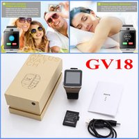 GV18 NFC Bluetooth Smart Watch Montre-bracelet usable Rappel d'appel Prise en charge de l'appareil photo à distance Carte SIM TF pour iPhone Samsung Smartphone