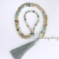 ingrosso collana in perle di tibet-108 mantra meditazione perline indiano buddista tibetano collana di perle di preghiera indù yoga mala collana di perline yoga gioielli spirituale di guarigione
