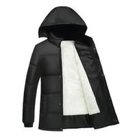 Wholesale Asia Fashion Clothing - Wholesale- Winter Jacket Men 2016 Men's Cotton Blend Coats Zipper Mens Jacket Casual Thick Outwear For Men Asia Size 4XL Clothing Male