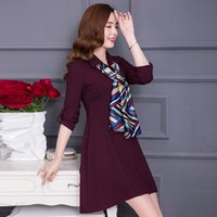 Wholesale Korean Wear Spring - 2017 spring new women Korean version of the Slim was thin in the long paragraph ladies dress spring and autumn skirt 40