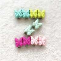 20pcs Silicone Butterfly Pacifier Clip ou Holder Baby Mom BPA Free Chew Beads, Silicone butterfly com Metal Pacifier Clip