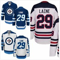 Wholesale Patrik Laine Jersey Mens Winnipeg Jets Hodkey Jerseys Full Stitched Embroidery Logo Blue White Size M XL