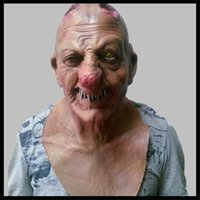 Volto Mask bloody halloween costumes - Halloween Adult Mask Zombie Mask Latex Bloody Scary Extremely Disgusting Full Face Mask Costume Party Cosplay Prop