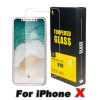 Wholesale Iphone Front Glass Screen - For Iphone 8 Plus iPhone X 7 Plus TopQuality BestPrice Tempered Glass Screen Protector 0.2MM 2.5D Ship Out Within 1 Day