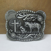 Wholesale Heavy Horses - BuckleHome heavy western horse with cross belt buckle with pewter finish FP-03651 suitable for 4cm wideth belt free shipping