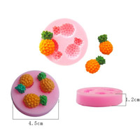 Wholesale Silicone Soap Molds Fruit - Mini Pineapple Silicone fruit Mold Soap Fondant Candle Molds Sugar Craft Tools Chocolate Moulds Silicone Molds For Cakes