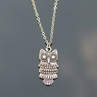 Wholesale Cheap Bijoux Wholesale - Wholesale-New 2016 Cheap Men Bijoux Love Vintage Silver Plated Small Owl Pendants Necklace For Women Chain Jewelry Gift One Direction Exo