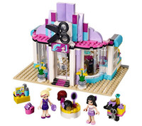 Wholesale City Hearts - Friends good friend girl heart lake city hairdressing salon 41093 building block toy 10539