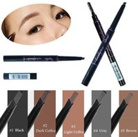 Wholesale Triangle Makeup Brush - 1 Pcs Waterproof Longlasting Triangle Natural Make up Eyebrow Pencil Eye Brow Liner With Brush Makeup Tools 5 Colors