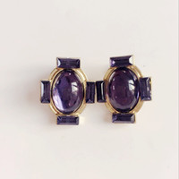 Wholesale Navy Blue Gold Earrings - Free Shipping Navy Blue Opal Cross Earring Clip, Fashion Sweet Girl New Design Earring, Hot Selling Earring