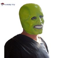 X-MERRY TOY Halloween Party Cosplay Maschera di lattice Jim Carrey Costume Fancy Dress Film famosi film puntelli 'The Mask'