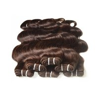 "Wholesale Brazilian 1kg Body Wave - wholesale brazilian human hair body wave medium brown color#2 1kg 20bundles lot 100% real human hair material made 16""~22"" clearance 5agrade"