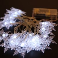 Wholesale Led Snowflake Lights Blue White - Colorful blue white warm white 10M 100leds Snowflake fairy string LED strip lights for decoration christmas tree party house