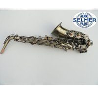 Wholesale Copper Alto Saxophone - Antique Copper Simulation France Selmer 54 Student   Intermediate Alto Saxophone with Leather Case and Accessories Factory price
