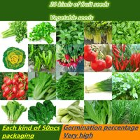 Wholesale Onions Seeds - 1000pcs organic vegetable seed package packaging 20 types of *50pcs four sowing summer fruit garden balcony vegetables potted spinach onion