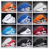 Günstige Retro 1 High OG Top 3 Shattered Backboard Melo Schwarze Toe Herren Basketball Schuhe Royal Blue Gym Red Thunder Retro 1s Sneakers US 7-13