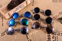 Wholesale Restore Mirrors - 2017 Unique Design Gothic steampunk sunglasses Restore ancient ways round frame metal frame Men Women glasses female eyewear oculos de sol