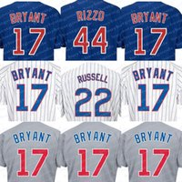# 17 Kris Bryant Alternative Blue Jersey Günstige Baseball Jerseys # 44 Anthony Rizzo Authentische Baseball Cool basis Trikots