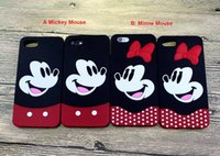 Wholesale Cute Phones For Sale - cell phone cases For iPhone 7 Cute Cartoon 3D Mickey Minnie Mouse lover Soft Silicone Back Cover for iPhone 7 6S plus Cases hot sale 2017