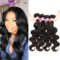Pacotes de cabelo de onda do corpo peruano Brazilian Malaysian Indian Mongol Raw Virgin Hair Bundle Sale 4 peças de lotes Dyeable Cheap Human Hair Weave