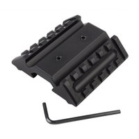 Tactical 45 Degree Dual Rail Interface Mount Base Fit para Picatinny Rail Alloy Alloy Gun Laser Lanterna Base Acessórios +