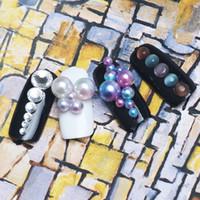 Wholesale Diamond Pearl Nail Art - New Nail Art Decorative Diamond Clorful Pearl Mix 40 3D Flash Mini DIY Nail Jewelry Accessories