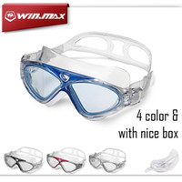 Wholesale professional swimming pool - Winmax New Professional Anti Fog and Anti UV Adult Swim Pool Water Eyeglasses High Quality Swimming Goggles