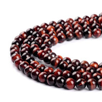 Wholesale Xmas Sale Jewelry - Round Beads Strands DHL Red Tiger Eye Round Beads for Jewelry Making Bracelets Hot Sale for Women Men Xmas Gift