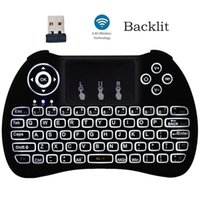 Wholesale Touch Pad Fly Air Mouse - 2.4GHz Wireless H9 Backlit Fly Air Mouse Mini QWERTY Keyboard with Touch Pad Android TV Box Remote Control Gamepad Controller