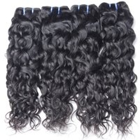 Peruvian Wet and Wavy Unprocessed Vigin Water Wave Cheveux Humains Weave Naturel Noir Couleur